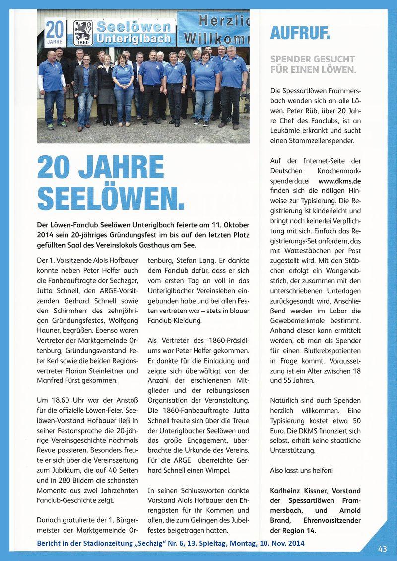 StadionZeitung_Sechzig_Nr.6_Spieltag13_10.11.2014_