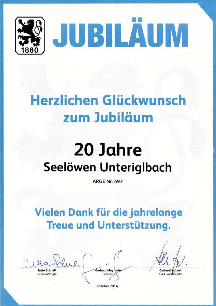 Jubiläums-Urkunde 1860